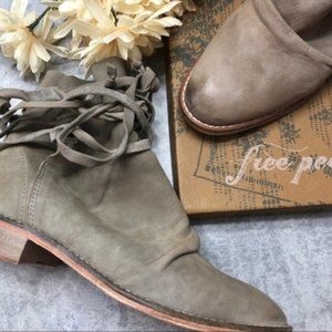 New Free People Grey Moonshine Ankle Boot